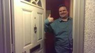 Happy locksmith customer, one of Taylors Locksmiths www,taylorslocksmiths.co.uk