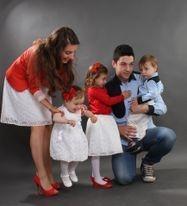 Svecana haljinica za krstenje, suknja za seku i mamu, kosulja za batu i tatu