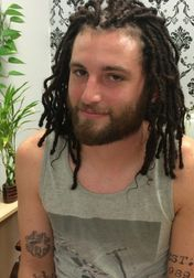 InstantLoc Dread Extensions done on white person hair .