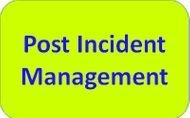 Post Incident Management