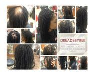 Bee show her own work at Braids by Bee on Dreadlock repaired by Bee