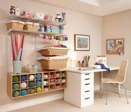 Beautiful craft rooms