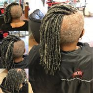 Small size dreads started with sisterloc dread extensions technique