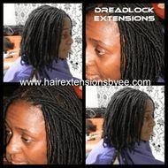 InstnatLoc Dread Extensions by Bee with Human hair to start your Dreadlock journey permanently Bee uses human organic hair to wrap around yours to start locs instantly.