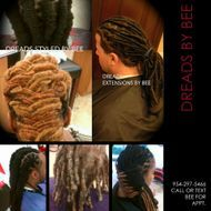 Instantloc Dread Extensions  done by Bee at Braids by Bee
