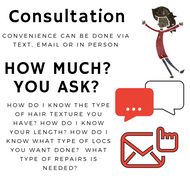 Braids by Bee offers consultations which cost a fee for 30 minutes long with Bee