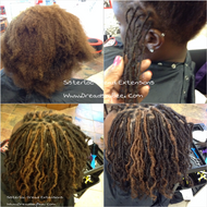 Sisterloc Dread Extensions done instantly in one day with our technique known as InstantLocs™