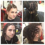 Instant Loc Dread Extensions done on Puerto Rican Hair textures