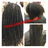 Braids By Bee starts dreadlocks with Extensions called Instantlocs