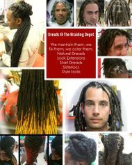 Braids by Bee known to do dreadlocks on any texture hair