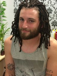 Dread Extensions also known as InstantLocs™  done on white person hair texture.
