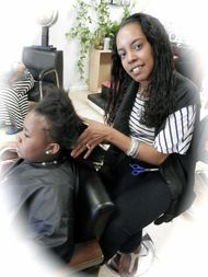 Bee starts dreads on kids hair with instantloc method