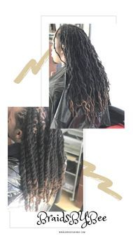repair your natural thin new growth dreadlocks with Braids by Bee techniques to restore hair