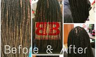 Braids  by Bee extends dreads with Instantly adding length with InstantLOc Dread Extensions options