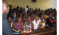 Class in our school in Democratic Republic of Congo