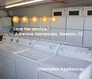 Pre Owned Appliances At Houston Champion Appliances