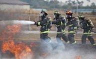 Firefighters on emergency