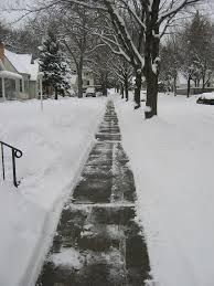 sidewalk snow removal Yard Barber Lawn Service LLC