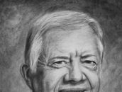 Drawing of president Jimmy Carter