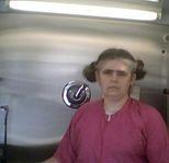 Me inside my grooming van.