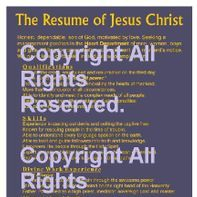 11x 17 Blue and Gold Resume of Jesus Christ Christian Poster