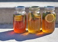 iced tea infused with lemon