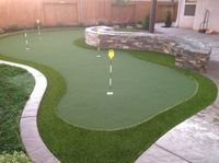 putting green yard intallation