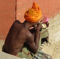 "<img src=""australian womens travel .jpg"" alt=""man on the banks of the river ganges in a yellow turban, varansi india"">"