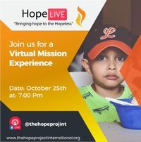 Hope live is a virtual missions experience