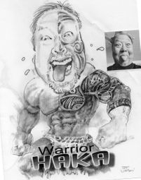 My brother James the Haka Warrior