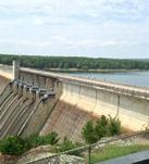 JFK Dam at Greers Ferry Lake.