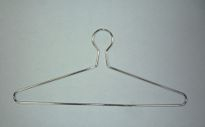 Closed Hook Chrome Plated Metal Hanger