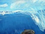 Ocean wave dolphin painting