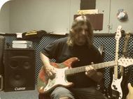 Guitar Player playing a custom stratocaster
