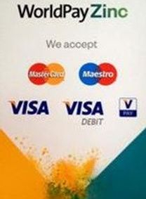 Payments can be made using these cards