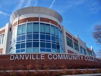 Multi-story curtain wall installation at Danville Community College