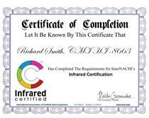 Infrared Certificate