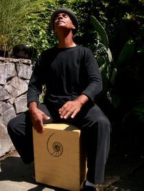Mingo Lewis Playing his Custom Cajon