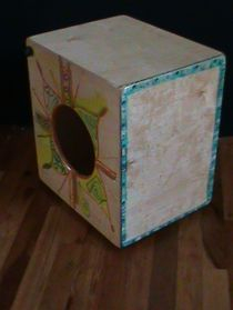 Medium Snare Cajon with Art by Tufani Mayfield