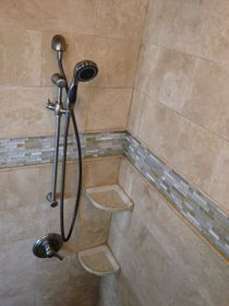 Double Shower Head Brushed Nickel