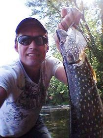 Large pike caught in Beaven Lake