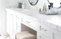 white makeup vanity built in