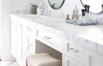 white makeup vanity built in