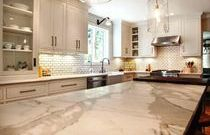 Calcutta marble counter tops