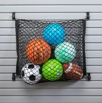 BALLS STORAGE SLAT WALL BASKET