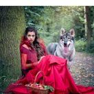 Little red riding hood Kami Northern Inuit dog model