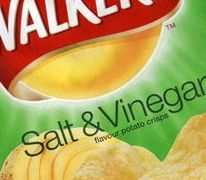 Walker's Salt and Vinegar crisp bag