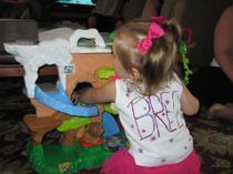 Miss B in her custom birthday shirt