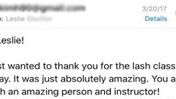 A thankful email from a student