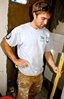 Rhett Jacobi- Founder of Arbor Construction, hard at work with Habitat for Humanity Ventura County